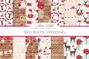 Red Rustic Wedding Patterns