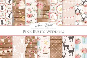 Pink Rustic Wedding Patterns