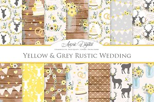 Yellow & Gray Rustic Wedding