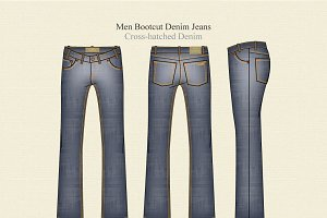 Men Boot Cut Denim Jeans