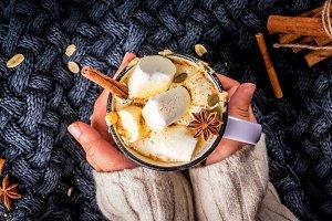 Hot spicy pumpkin white chocolate