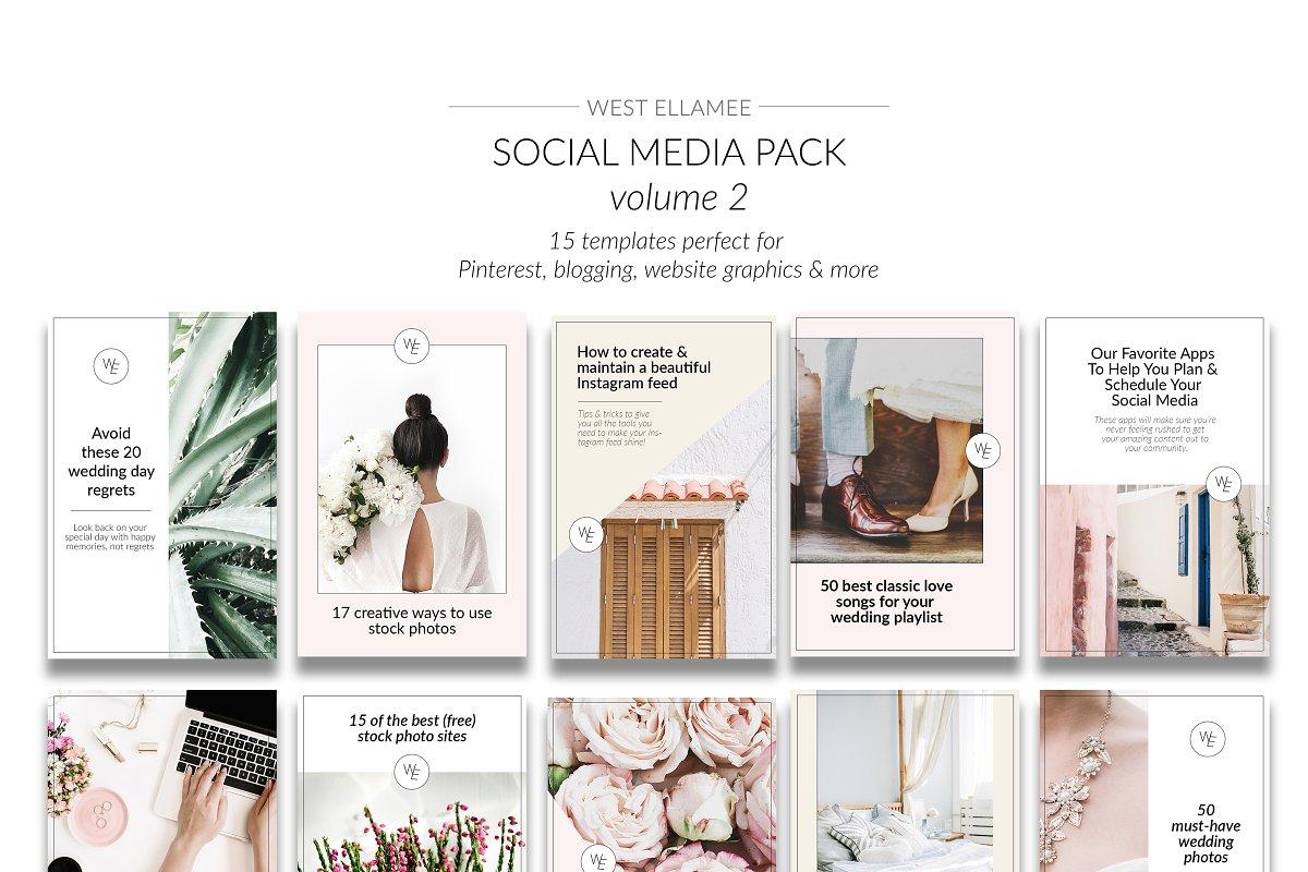 Pinterest Templates Vol 2 Pinterest Templates Creative Market