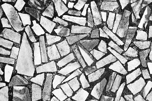 Abstract black and white mosaic