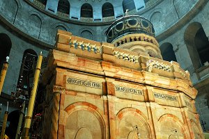 Jesus Empty Tomb in Jerusalem and Dome over it