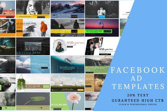 Facebook Ad Templates Facebook Templates Creative Market