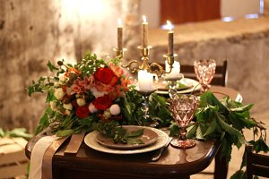 Table Settings for Loft style