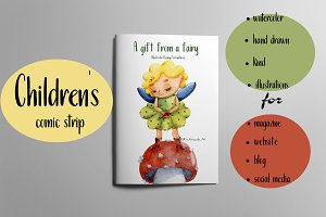 Fairy's gift -children's comic strip