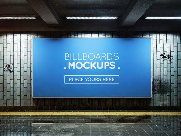 Subway Billboard Mockup #47