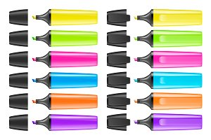 Vector highlighter set.