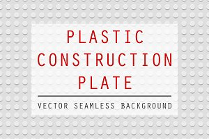 Plastic construction plate.