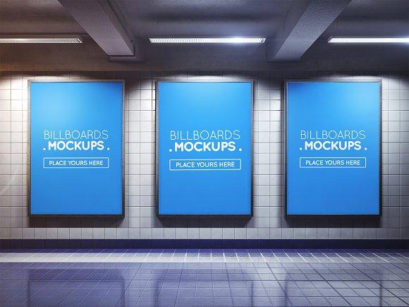 Subway Billboard Mockup #51