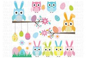 Easter Owl Clip Art