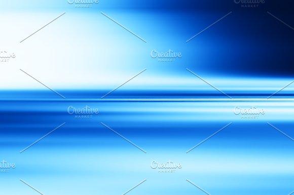 Horizontal Blue Motion Blur Surface Background