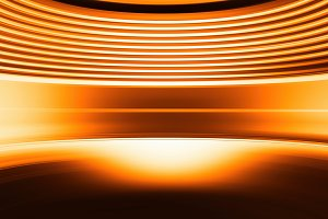 Curved orange abstract virtual reality background