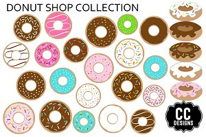 Donut Shop Graphic Clip Art Set