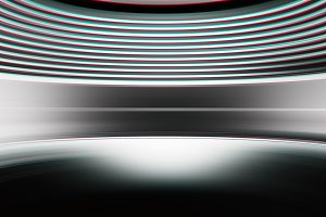 Curved chroma abstract virtual reality background