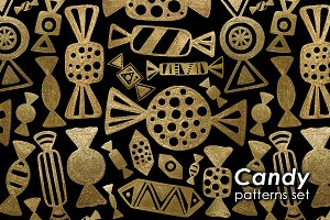 GOLD CANDY patterns set.