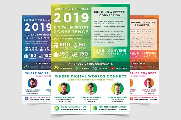 digital conferences event flyer flyer templates creative daddy