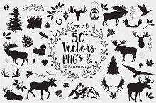 Moose Woodland Vectors & PNG Clipart