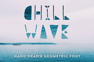 Chill Wave - Geometric Font