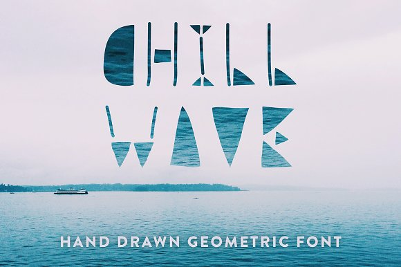 Chill Wave Geometric Font