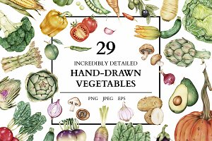 29 Incredible hand-drawn vegetables