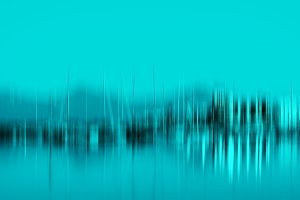 Vertical cyan motion blur yacht club background