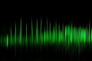 Vertical green motion blur osc background