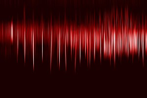 Vertical red motion blur osc background