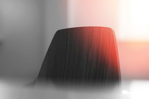 Top of the chair with light leak background
