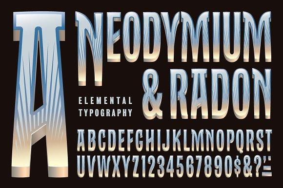 Lettering Design Neodymium Radon