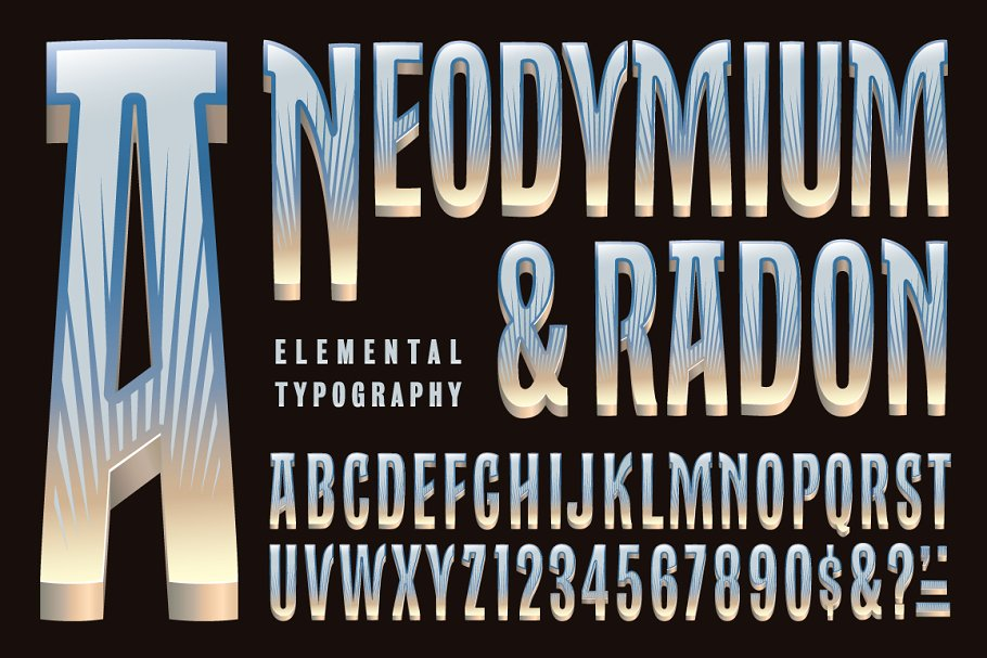 Lettering Design: Neodymium & Radon