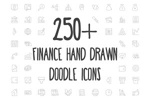 250+ Finance Hand Drawn Doodle Icons