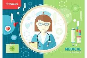 Profession concept with medical