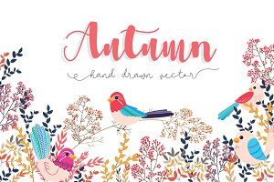 Fall / Autumn Flower ELEMENTS SET