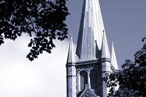 Vertical Trondheim cathedral background