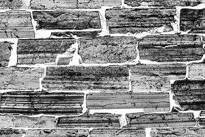 Horizontal black and white brick texture background