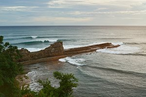 Ocean coastline in Nicaragua