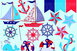 Nautical Clipart, AMB-522