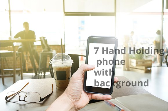 7 Hand Holding Phone With Background