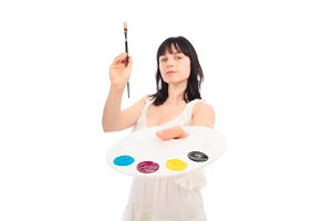 Painter With Cmyk Palette