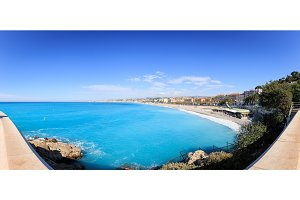Panoramic Shot Of Nice Beach