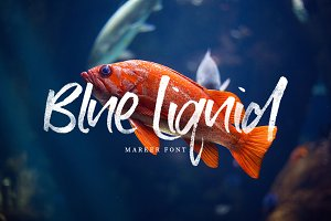 Blue Liquid Marker Font