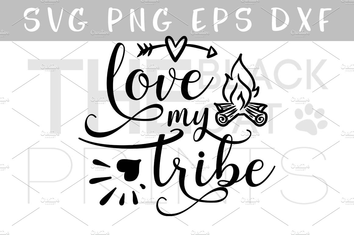 Download Love my tribe arrow & fireplace SVG ~ Illustrations ...