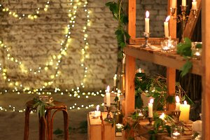 Lights in loft decor