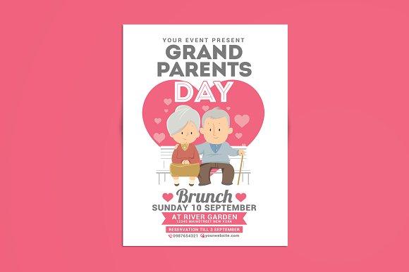 grandparents day brunch flyer templates creative market
