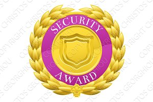 Gold Security Winner Laurel Wreath Medal
