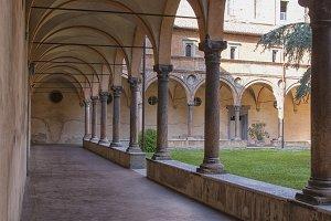 Medieval collonade in Italy