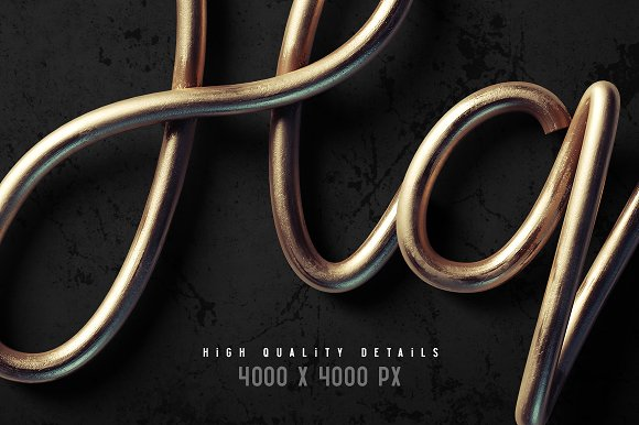 Flex wire PSD font in Objects - product preview 1