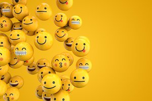 Emoji emoticon character background